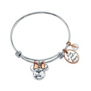 MINNIE MOUSE 14KT Gold Flash Crystal Bracelet